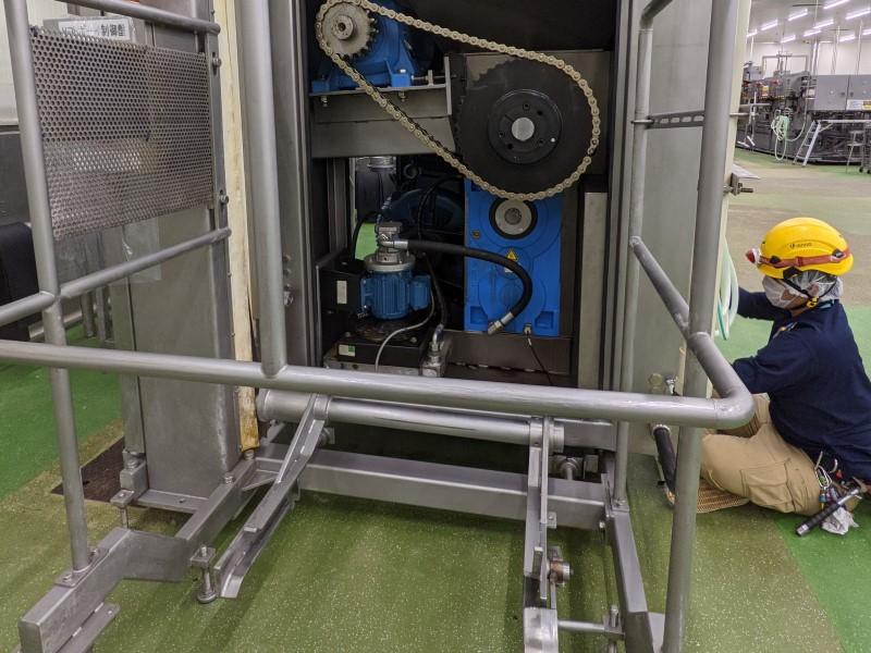 機械入替の為の電源工事