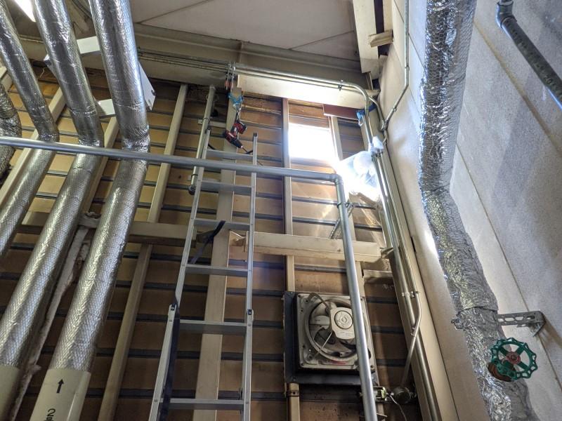 ボイラー室の換気改修
