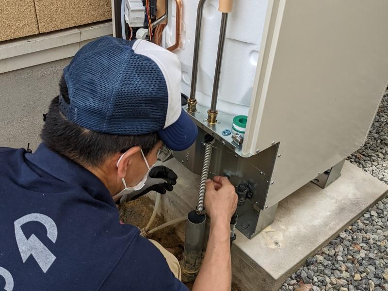 温水器からエコキュートに取替